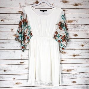 Hot & Delicious White Floral Dress